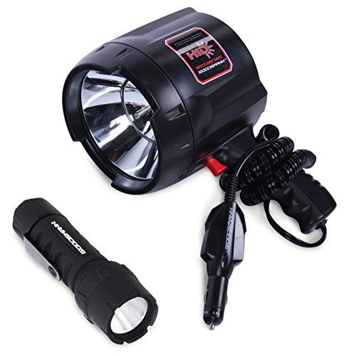 GOODSMANN TACTICPRO Lighting Set (Goodsmann TACTICPRO Powerful 2000 Lumen HID Spotlight 9924-0011-06 + Goodsmann Tacticpro LED Flashlight 9924-0011-01)