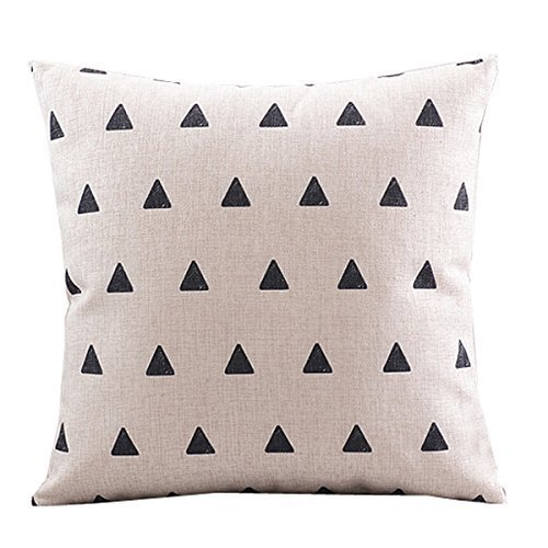 CoolDream Cotton Linen Decorative Pillowcase Throw Pillow Cu