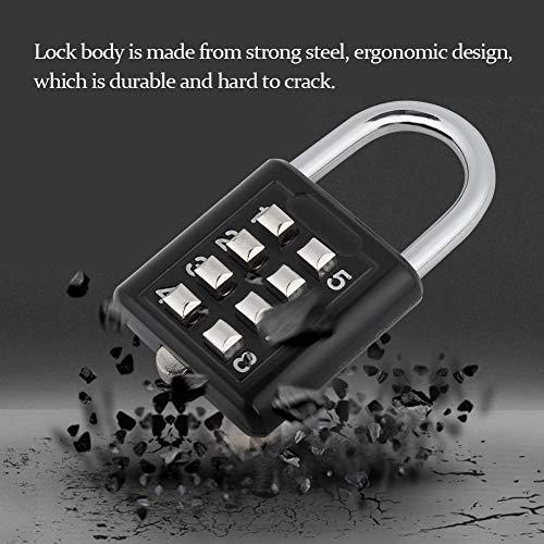 Candado Ashata Dígitos Password Lock De Luggage Sin Combinación Cerradura Codigo 8 Contraseña Llave pRRdqxSrf