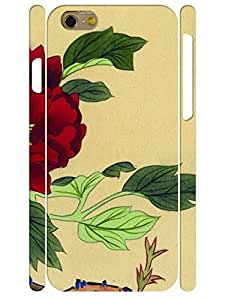 Custom Retro Ink Rose 3D Print Tough Phone Snap On Case for Iphone 6 4.7 Inch