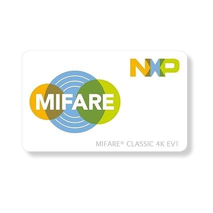 RFID Mifare® Classic EV1 de tarjetas chip 4 K Cards CR80 Tarjetas ...