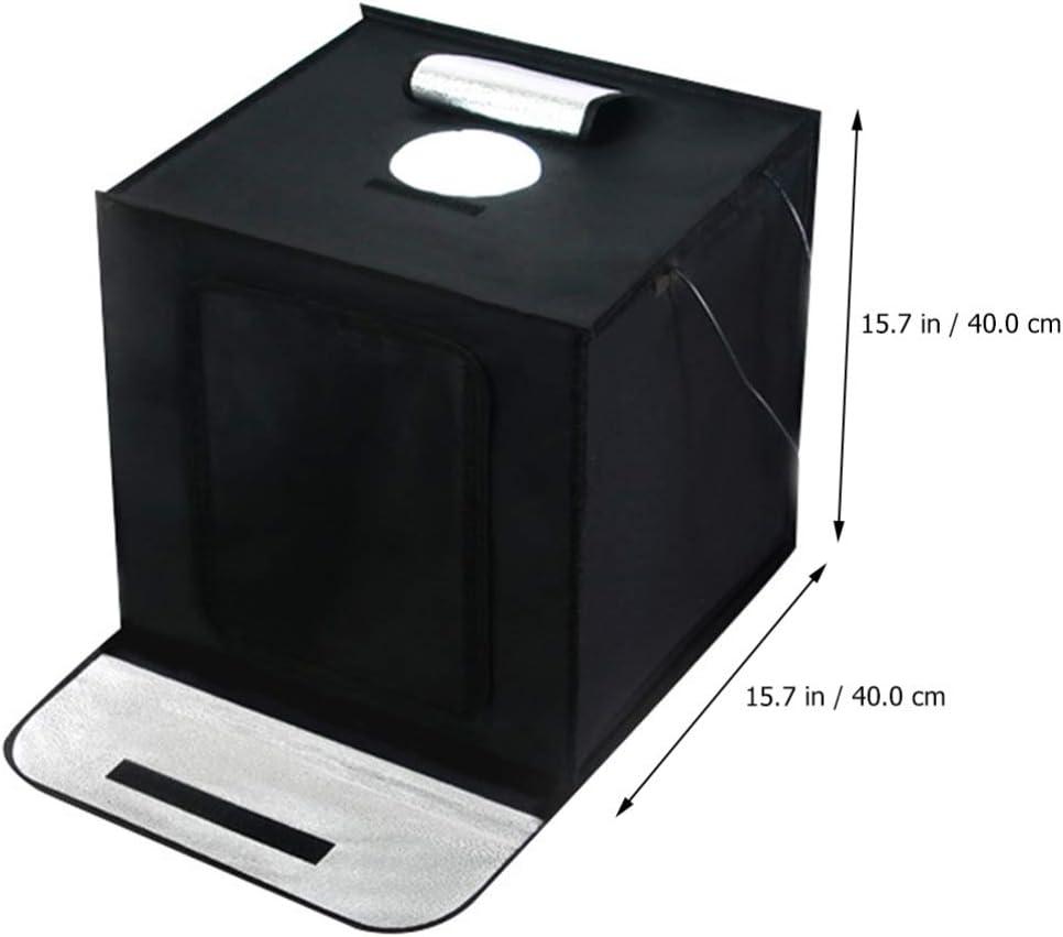 OSALADI Bo/îte Photo Mini Studio Photo Bo/îte /à Lumi/ère avec Lumi/ère LED Photographie Table Top Bo/îte /à Lumi/ère Portable Photo Studio Tir Tente 40 Cm