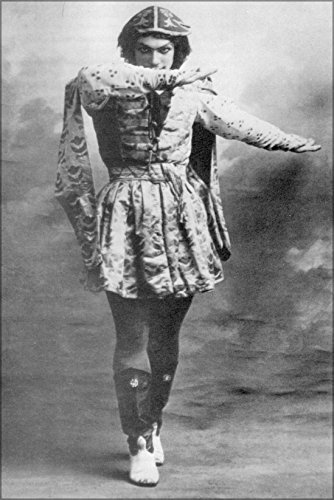 24x36 Poster; Vaslav Nijinsky Wearing High Boots And A Long Tunic, 1910