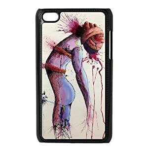 Custom Hard Protective Plastic Case for Ipod Touch 4 - Watercolor CM11L3748