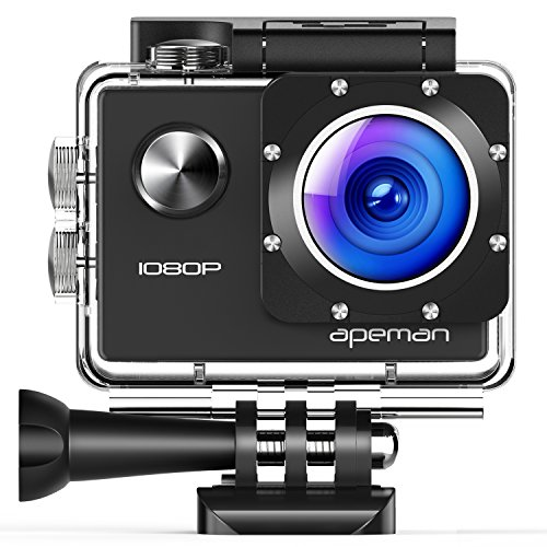 Upgraded Apeman Action Camera 1080P Full Hd Waterproof Sport Camera 30M Underwater Camcorder With 170  Wide Angle And Mounting Accessory Kits