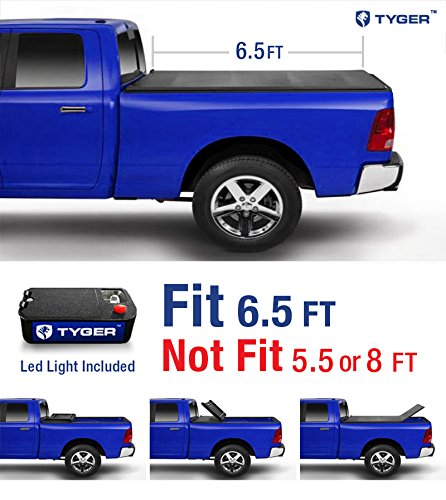 Tyger Auto TG-BC3F1042 TRI-FOLD Truck Bed Tonneau Cover 2015-2018 Ford F-150 | Styleside 6.5′ Bed