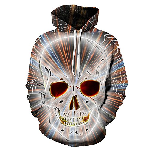 ZFADDS Blue 3D Skull Hoodies Men Women Winter Spring for sale  Delivered anywhere in Canada