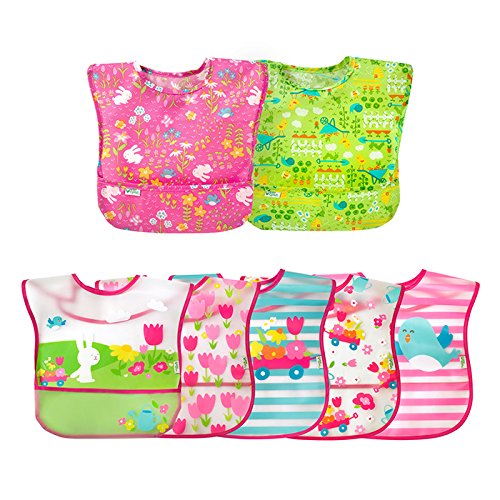 green sprouts Toddler Bibs Set, Pink