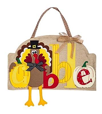 Evergreen Thanksgiving Holiday Door D?cor