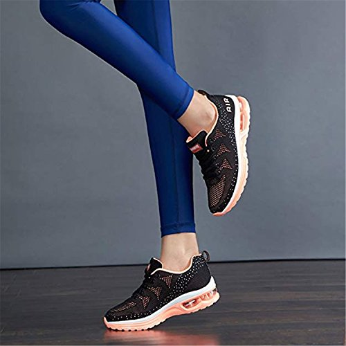 JACKSHIBO Women Lighweight Air Cushion Comfort Running Shoes,Women Blackpink 41 by JACKSHIBO (Image #6)