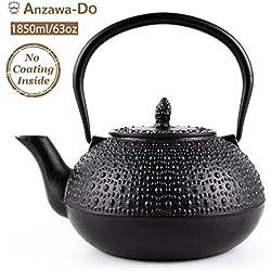 SUTEAS Japanese Tetsubin Tea Kettle Cast Iron Teapot with Infuser 65oz 1.85 Liter