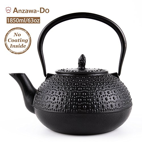 SUTEAS Japanese Tetsubin Tea Kettle Cast Iron Teapot with In