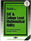 SAT and College Level Mathematical Ability, Jack Rudman, 0837367581