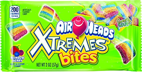 Airheads Xtremes Bites Sweetly Sour Candy Pack, Rainbow Berry, 2 Ounce (Bulk Pack of 18) -