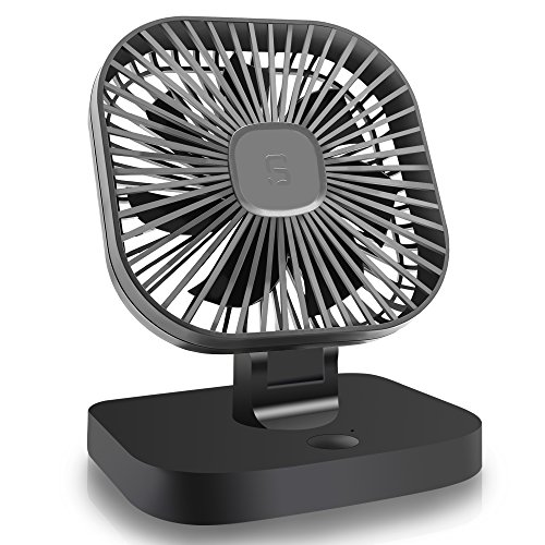 VIPFAN 5V USB Desk Electric Car Fan, 4 inch Rotatable Car Cooling Fan with 3 Speeds, Quiet Powerful Car, Enhanced Air Flow, Lower Noise, Cooling Electric USB Fan for Desk Table Car Office Bedroom