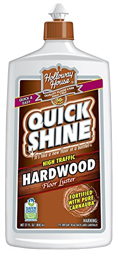 Quick Shine High Traffic Hardwood Floor Luster and Polish, 27 Fl. Oz - Pack of 6 by Quick Shine S