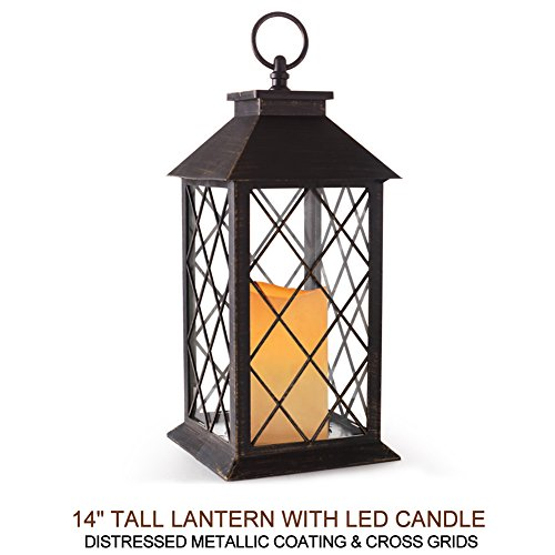 Bright Zeal 14 Quot Tall Bronze Vintage Candle Lantern With