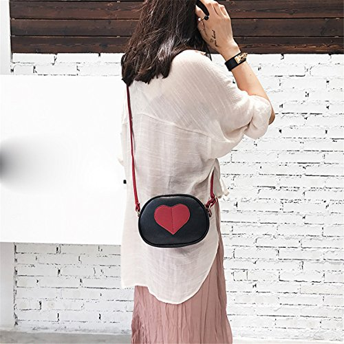 Bags Round Clearance Bag Messenger Shaped ZOMUSA Crossbody Round Black Women Heart Shoulder qUFpw8vq