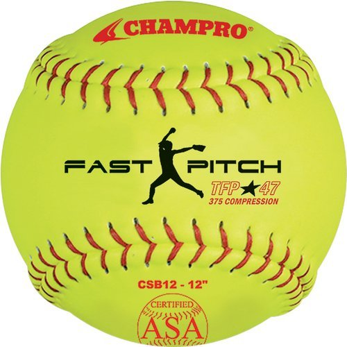 Champro 12'' ASA .47 COR Fastpitch Softball (Dozen) by CHAMPRO