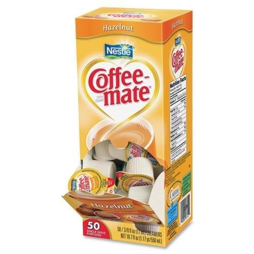 Coffee-mate 35180 Liquid Creamer Singles - Hazelnut Flavor - 0.38 fl oz - 1/Box - 1 Serving