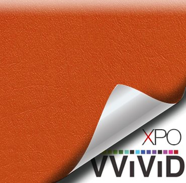 "VViViD Orange Weatherproof Faux Leather Finish Marine Vinyl Fabric (1.5ft x 54"")"