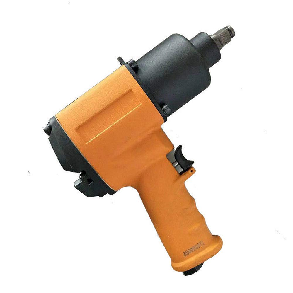 Selva Professional Air Impact Wrench Tool Gun - 850FT/LB - Speeded 8000 RPM Steel Aluminum | Heavy Duty Powerful Performance Durable Ergonomic Design | Rear Exhaust Short Shank Light Weight | Orange
