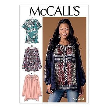 Unbekannt McCall \'s Damen Schnittmuster 7434 Gathered, Raglan-Ärmel ...