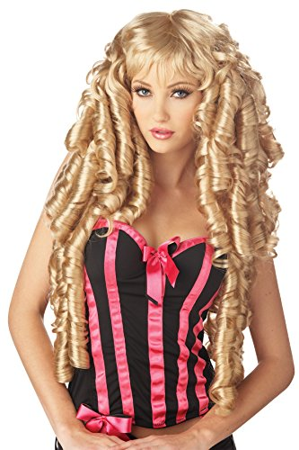 UHC Crossdresser Sissy Long Curly Storybook Deluxe Wig Costume Accessory (Blonde)