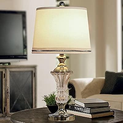Estilo europeo Cristal Vaso Lámparas de mesa,Dormitorio Lámpara ...