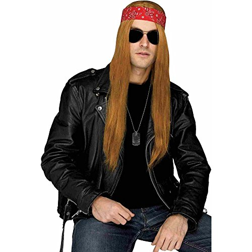 Grunge Rocker Costume (80s Grunge Rocker Brown Wig with)