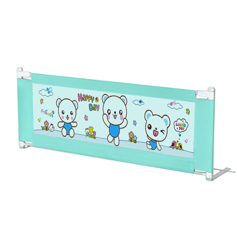 Portable Adjustable Bed Rail Bumper for Toddlers, Extra Long Safety Baby Bedrail Guard with Vertical Lifting Design (Color : Blue, Size : 1.5m) by Bed guardrail
