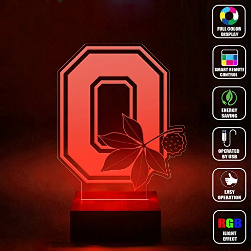Ohio State Buckeyes Night Light Buckeyes Night Light