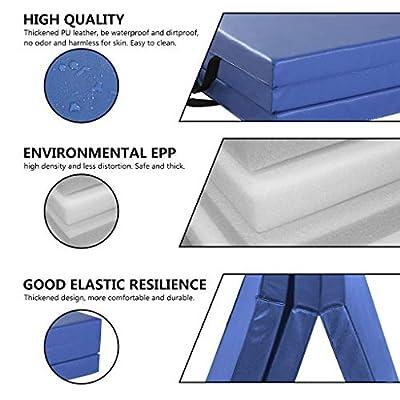 Folding Gymnastics Mat | 6' x 2' x 2