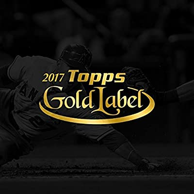 2017 Topps Gold Label Baseball Hobby Box (7 Packs of 5 Cards: 1 Framed Autograph and 4 Parallels)