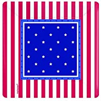 Amscan Patriotic 4th of July American Classic Disposable Dessert Plates (8 Piece), Multi Color, 7.4 x 7.4""