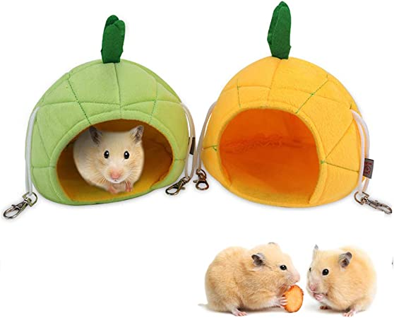 dfghszedtgs Warm Bed Rat Hammock Squirrel Winter Toys Pet Hamster Cage Durable Hanging Nest Toy Comfortable Pet Supplies