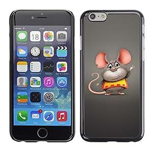 Smartphone Rígido Protección única Imagen Carcasa Funda Tapa Skin Case Para Apple Iphone 6 Mouse Big Ears Rodent Cartoon Character Cute / STRONG
