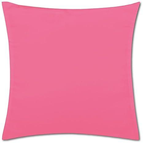Bestlivings Funda de Almohada Decorativa Cojín Almohada Microfibra Micro satén 40 x 40, 50 x 50, 60 x 60, poliéster, Pink - Rosa, 45 x 45 cm