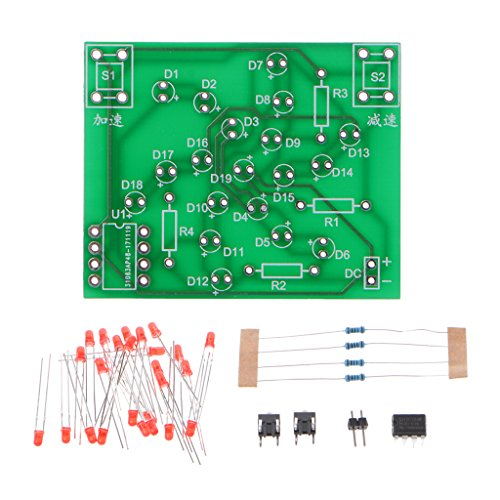(Koungyun DC 5V DIY Kit Electronic Windmill Funny DIY PCB Board and Parts Kit for Practice )