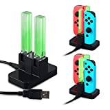 Cheap SUNKY Nintendo Switch Joy-Con Charging Dock, LED Indicator 4 USB Charger Ports Portable Travel Size Charging Station Holder with Type C USB Date Cable