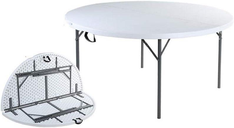 アウトドア 折りたたみ テーブル 携帯用屋外中心の折るテーブル釣、ピクニック、キャンプおよび旅行のために適した細く軽量の小さい家族のテーブル キャンプ コンパクト用 BBQアウトドア (色 : 白, サイズ : 153x74)