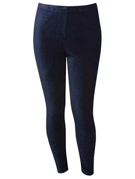 f9622ac4be70a9 M&Co Ladies Plus Size Cotton Stretch High Elasticated Waist Full Length Cord  Leggings: Amazon.co.uk: Clothing