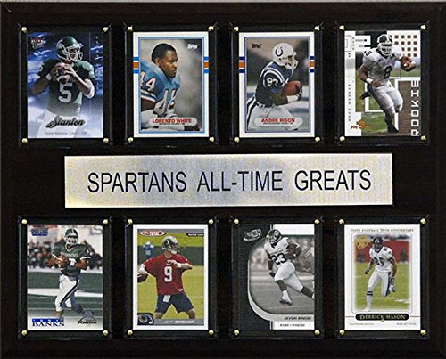 CandICollectables 1215ATGMICHST NCAA Football 12 x 15 in. Michigan State Spartans All-Time Greats Plaque from CandICollectables