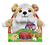 (US) Pop Out Pets Dogs, Reversible Plush Toy, Get 3 Stuffed Animals in One - Bulldog, Golden Labrador & Beagle, 8 in.