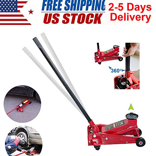 3 Ton Heavy Duty Steel Ultra Low Profile Floor Jack Rapid Pump Show Car Lowrider From USA STOCK 2-5 DAYS DELIVERY