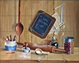 Artwork On Tile Ceramic Mural Backsplash Lil' Chef by Verdayle Forget - Kitchen Shower Wall (30'' x 24'' - 6'' tiles)