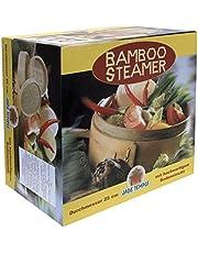 JADE TEMPLE Steamer-set, bambu 2 korgar med 1 lock, presentförpackning