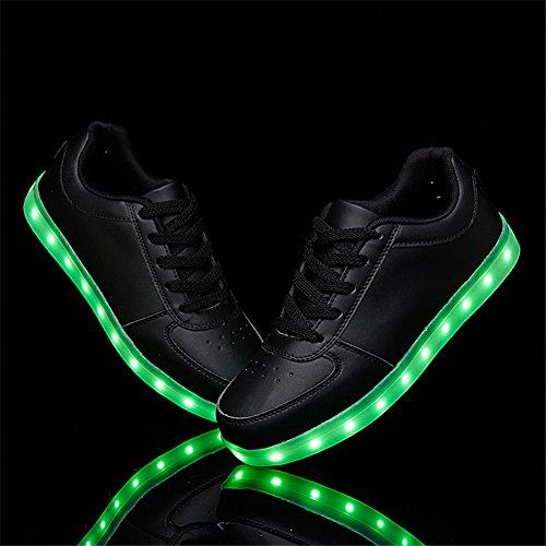 SANYES USB Lade leuchten Schuhe Sport LED Schuhe tanzen Turnschuhe Schwarz