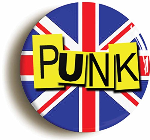 Punk British Flag Retro Seventies Button Pin (Size is 1inch diameter) Union Jack -