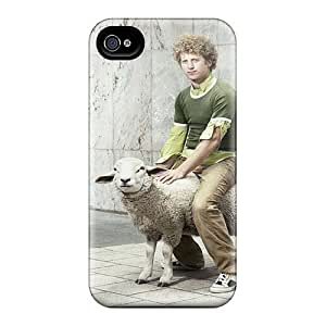 Premium Durable Curly Hair Fashion Tpu Iphone 4/4s Protective Case Cover